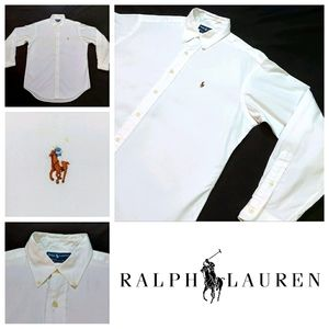 Ralph Lauren Yarmouth Pinpoint Oxford Button Down